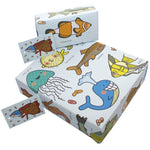 Eco-friendly Recycled Wrapping Paper - Fish by Re-wrapped
