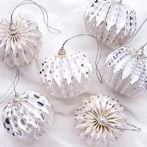 Set of 6 Recycled Hanging Paper Lanterns - Vera-Bee Limited