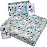 Eco-friendly Recycled Christmas Wrapping Paper - Snowmen