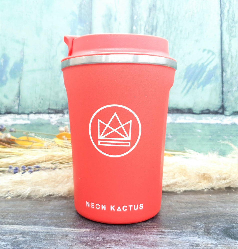 Reusable Stainless Steel Insulated Travel Cup Coral - Neon Kactus