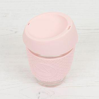 Reusable Eco Glass Coffee Travel Cup Pink - Neon Kactus