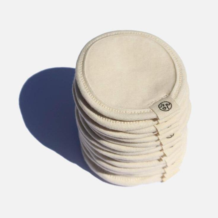Organic Cotton Make up Remover Pads & Wash Bag x 16 - Zero Waste Club