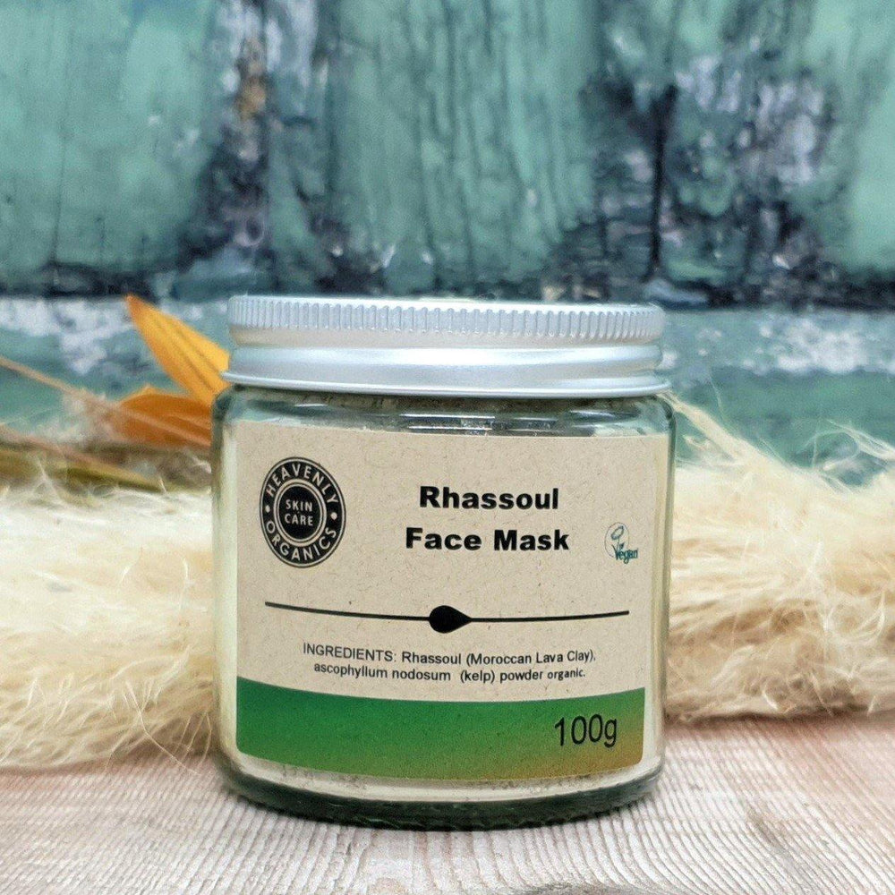 Organic Rhassoul Face Mask - Heavenly Organics