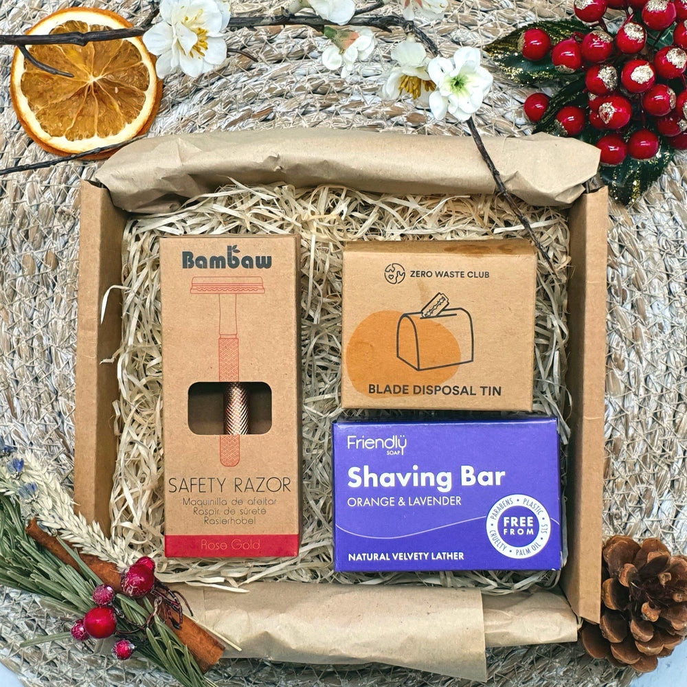 Zero Waste Shaving Gift Set - Rose Gold