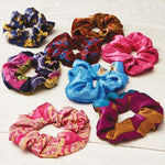 Recycled Sari Hair Scrunchies