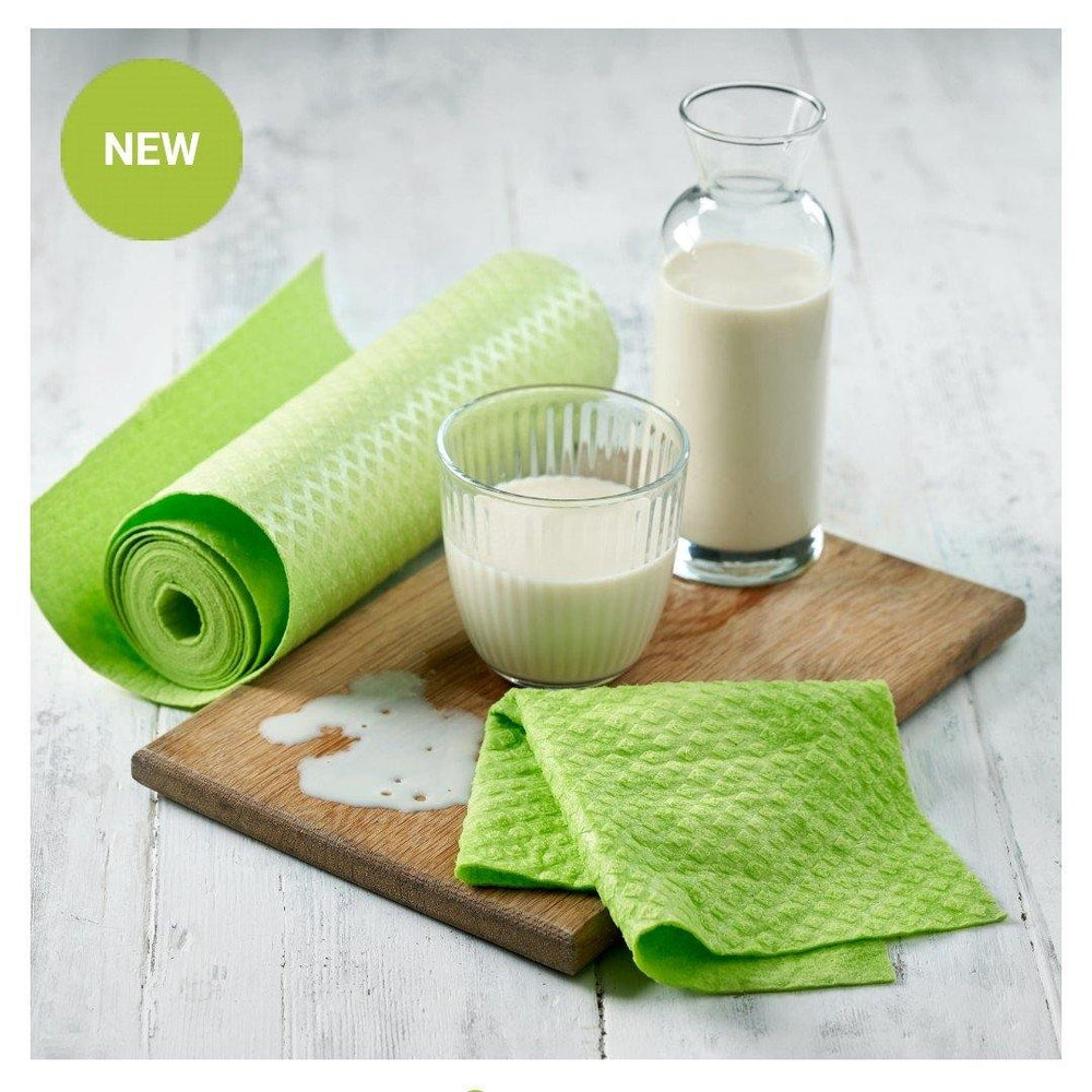 Compostable Sponge Reusable Kitchen Roll - Green