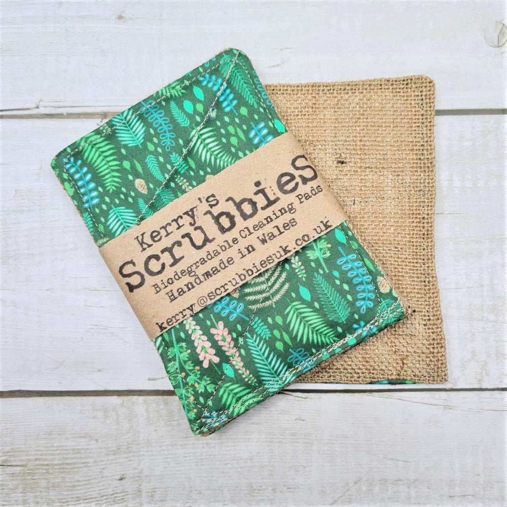 Scrubbies Heavy Duty Unsponge Pack of 2 - Ferns