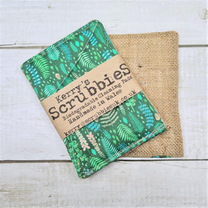 Load image into Gallery viewer, Scrubbies Heavy Duty Unsponge Pack of 2 - Ferns