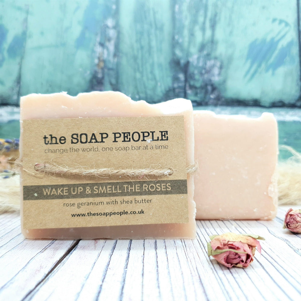 Nourishing Rose Geranium Soap Bar - The Soap People