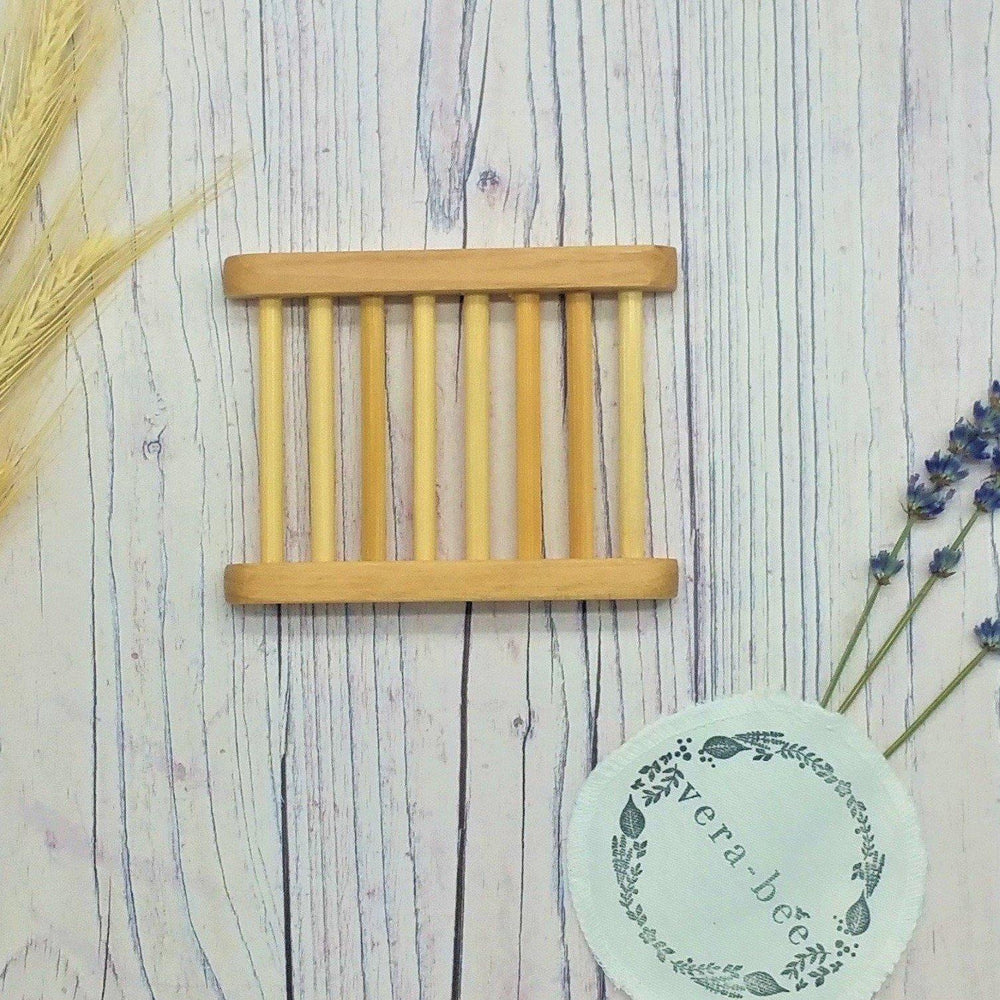 Hemu Wood Ladder Soap Dish. Sustainable. Ethical. Natural. Shampoo Bar. Conditioner Bar. Soap. Vera-Bee.