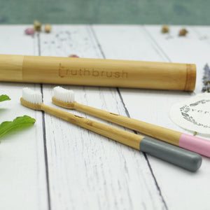 Bamboo Toothbrush Travel Case. Truthbrush. Vera-Bee.