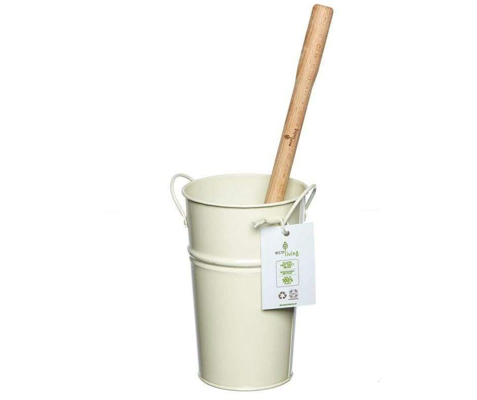 Plastic Free Toilet Brush and Holder Set - Cream - Vera-Bee Limited