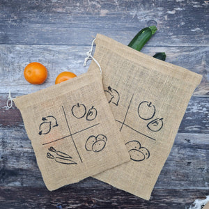 Eco-Friendly Hessian Vegetable/Fruit Grocery Bag - Medium
