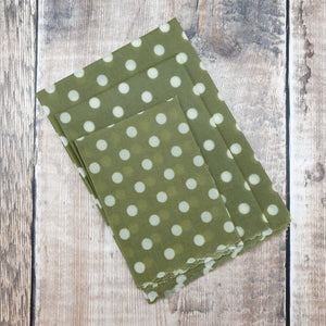 Vegan Oliwraps Set of 3 Sage Polka Dot - Rowen Stillwater