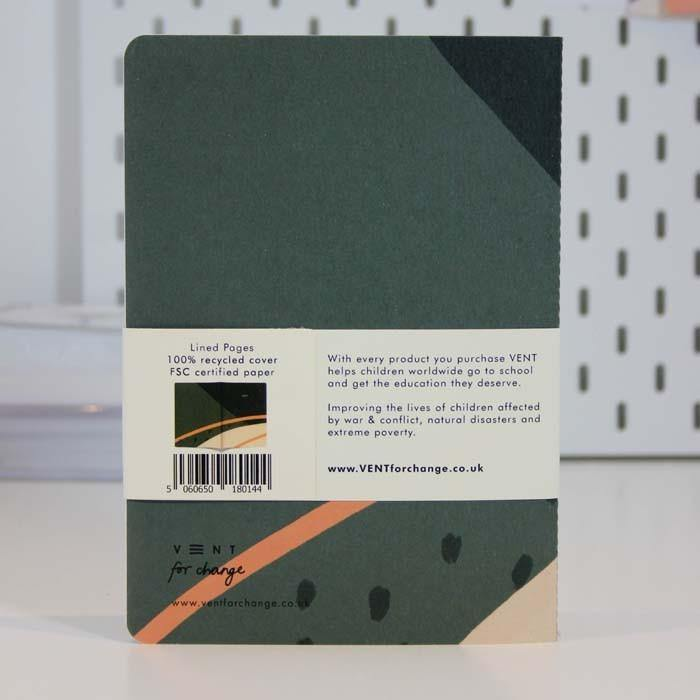 Recycled A5 Notebook Lined Paper - Ideas Green - Vent for Change - Vera-Bee Limited