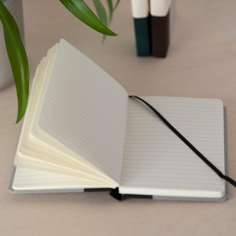 Recycled Board A5 Notebook Lined Paper - Grey - Vent for Change