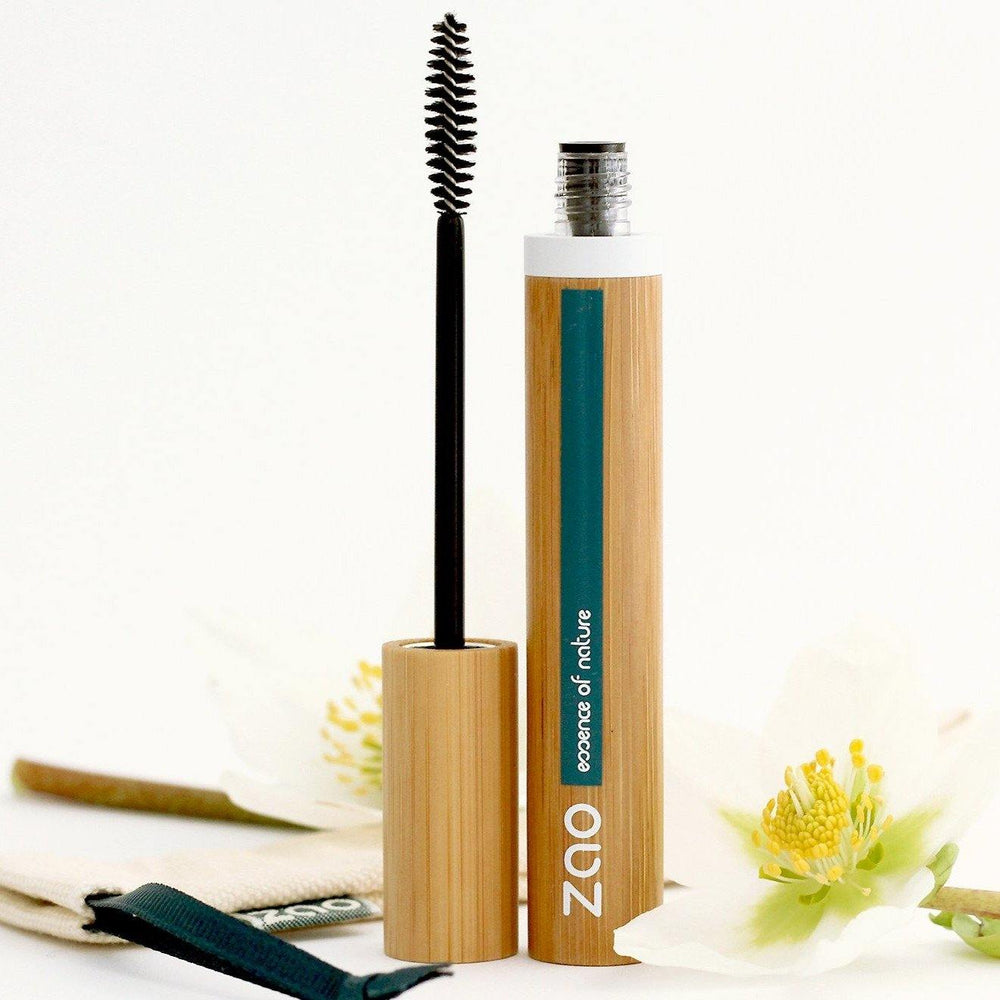 Volume & Sheathing Mascara Refillable Black 085 - Zao Makeup