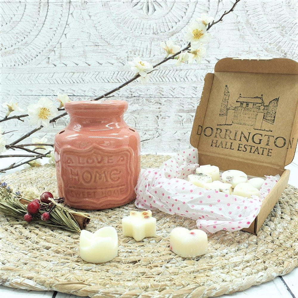 Wax Melt Burner Rose & Botanical Wax Melts Gift Set