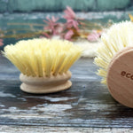 Dish Brush with Natural Bristle Replaceable Head - Pink