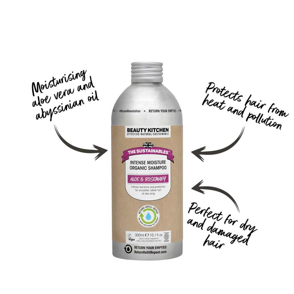 Plastic Free Vegan Intense Moisture Organic Shampoo - Beauty Kitchen