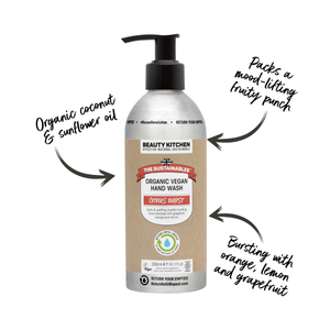 Load image into Gallery viewer, Plastic Free Organic Vegan Hand Wash Citrus Burst - Beauty Kitchen