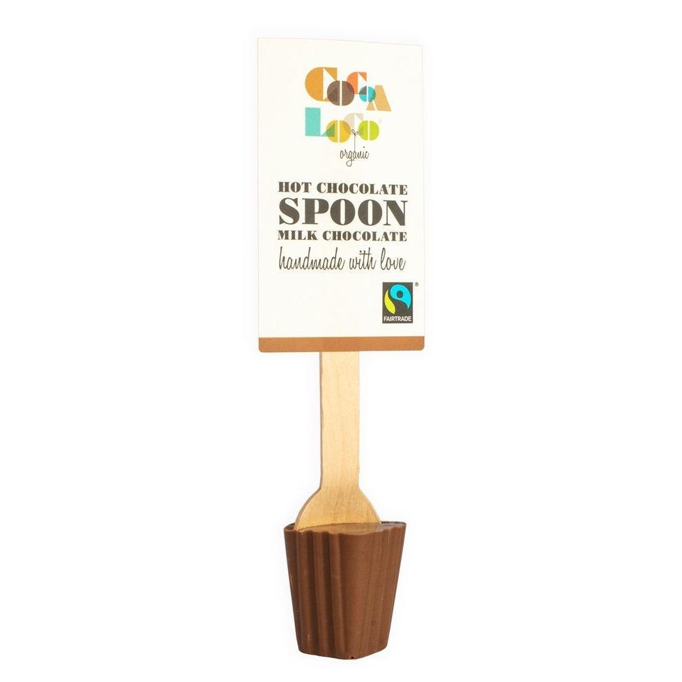 Cocoa Loco Organic Milk Chocolate Spoon - Hot Chocolate Spoon