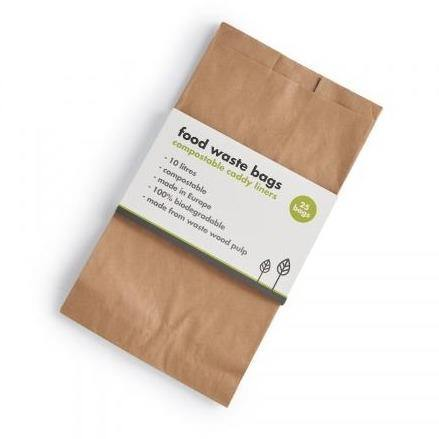 Compostable Food Waste Bags x 25 - ecoLiving