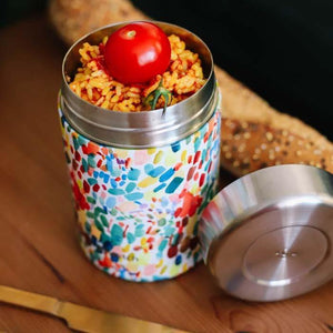 Insulated Stainless Steel Food Storage Jar/Lunch Box Arty 650ml - Qwetch