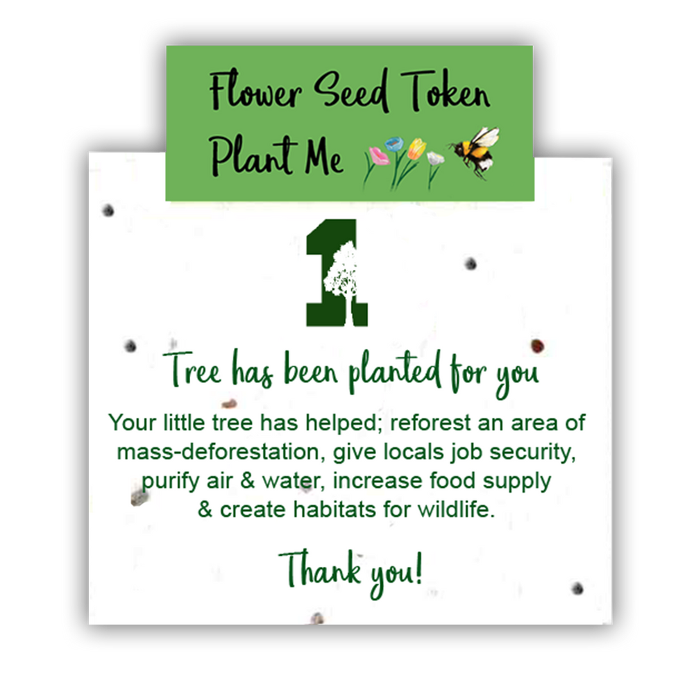 1 Tree Card 100% Recycled Greeting Card Vegan Inks - Best Wife Ever