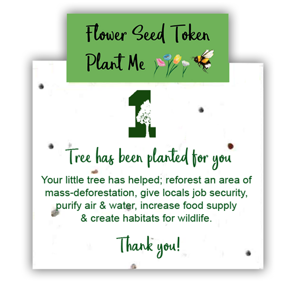 1 Tree Card 100% Recycled Greeting Card Vegan Inks - Green Wreath - Vera-Bee Limited
