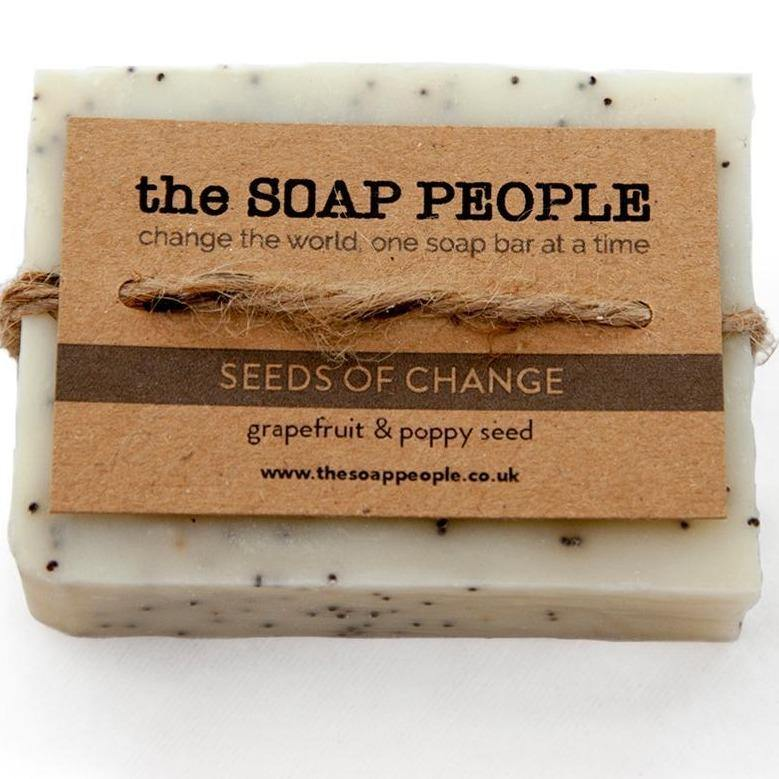 Grapefruit & Poppy Seeds Soap Bar - The Soap People - Vera-Bee Limited