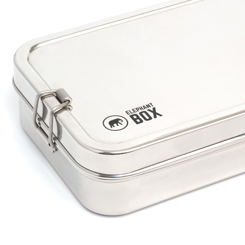 Elephant Box Single Tier Lunchbox - Stainless Steel