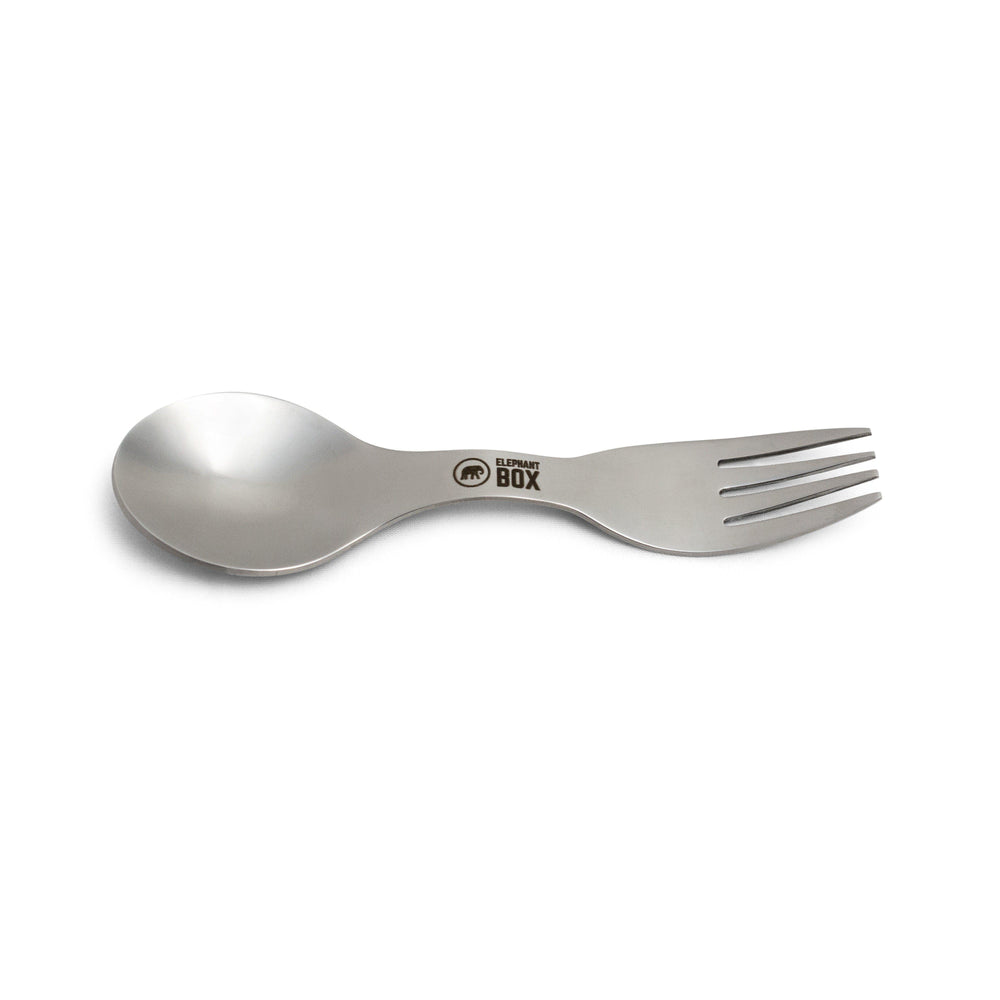 Stainless Steel Spork with Cotton Pouch - Elephant Box