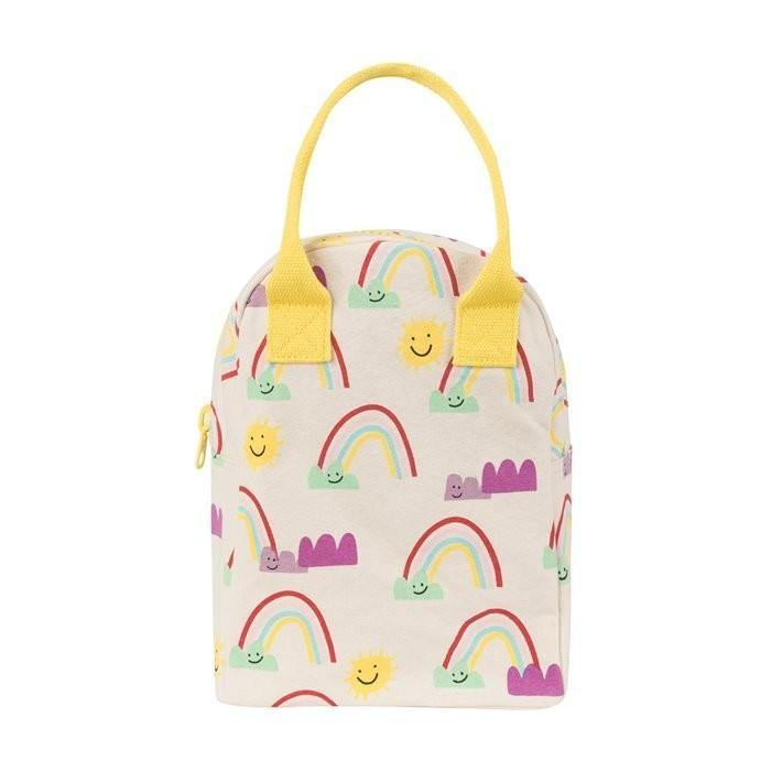 Zipper Lunch Bag - Rainbows