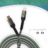 Pivoi MFi Certified USB-C to Lightning Cable | 1 Pack