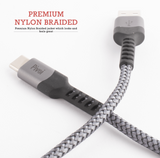 Pivoi USB 2.0 AM to Type C Cable Gray | 1 Pack