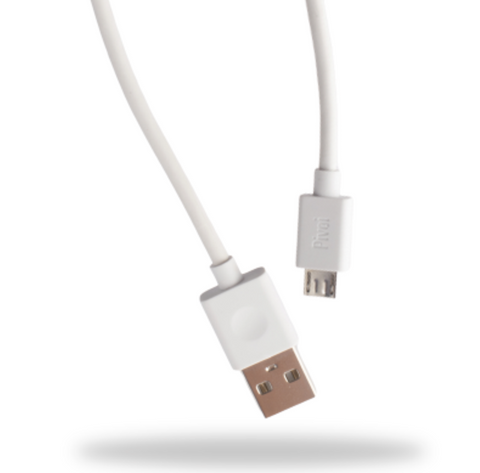 Pivoi USB 2.0 to Micro USB Cable White | 1 Pack