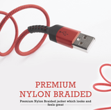 Pivoi USB 2.0 AM to Type C Cable Red | 1 Pack