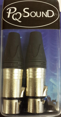 3 PIN INLINE XLR FEMALE 2pack