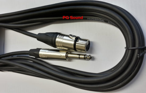Signal cable XLR Female - Stereo Jack
