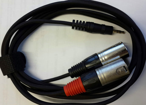 Cable signal 3.5 TRS - 2 x XLR Male