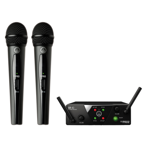 AKG WMS40 Dual Handheld Wireless Mic