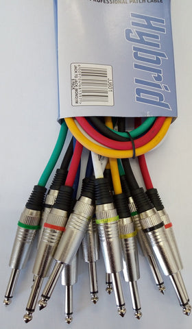 Signal Cable 6 x Jack - Jack Mono 1Mtr