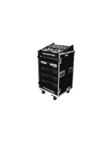 Flight Case 12U Amp+Mixer