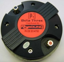 Beta 3 Titanium 30W compression driver