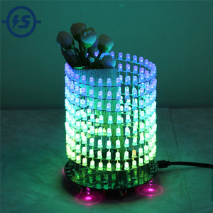 RGB LED Matrix Dream Light Circle DIY Kit Music Spectrum Module 8x32 Dot Matrix Electronic Fun LED Light Matrix DIY Electronic