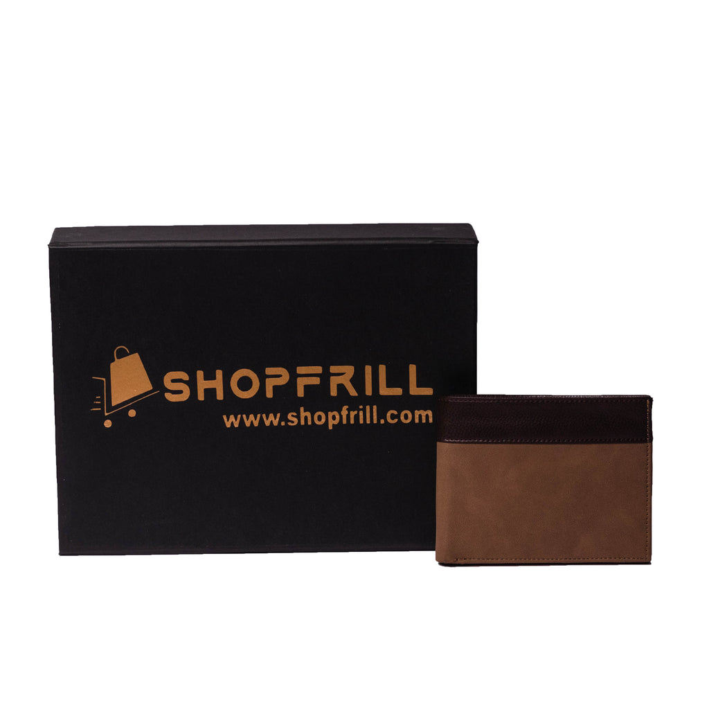 ShopFrill™  Men Genuine Leather Wallet (Brown)
