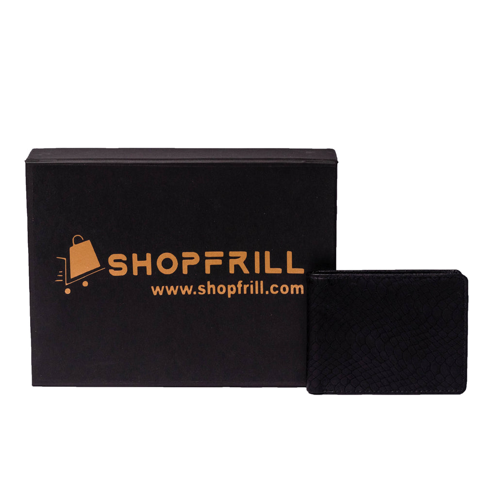 ShopFrill™  Men Genuine Leather Wallet (Black)