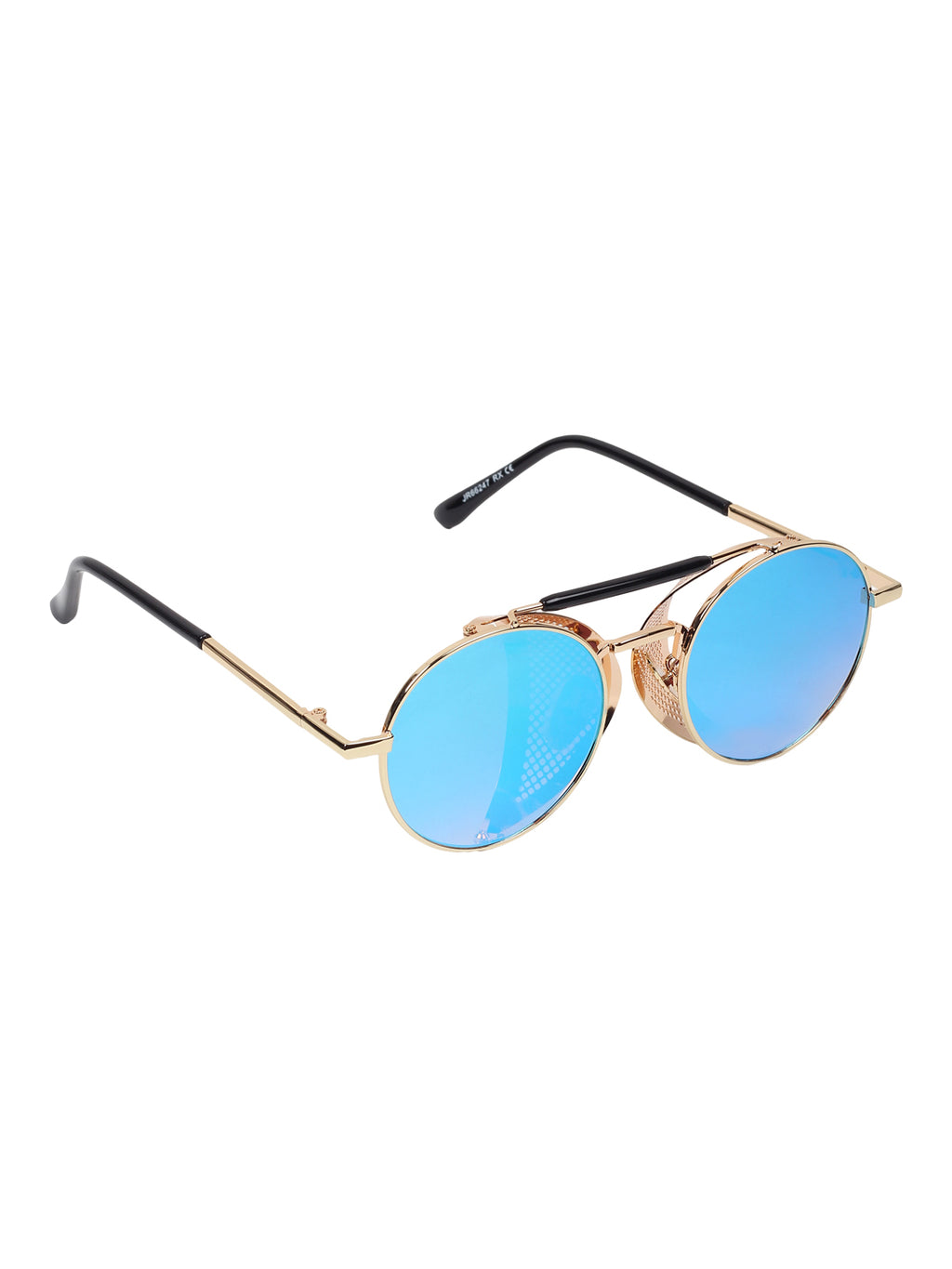 Vintage cup look Golden Blue Round shape cup  sunglass