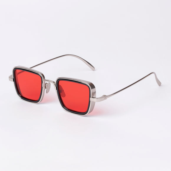 Kabir Singh Red Silver UV Protection Sunglasses